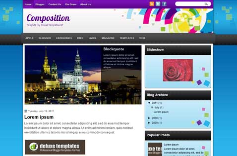 composition-blogger-template