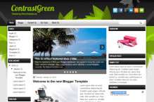 contrastgreen-blogger-template