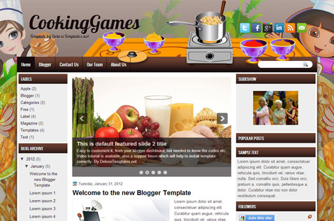 cookinggames-blogger-template