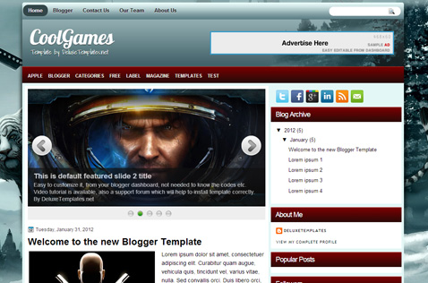 coolgames-blogger-template