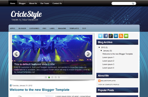 criclestyle-blogger-template