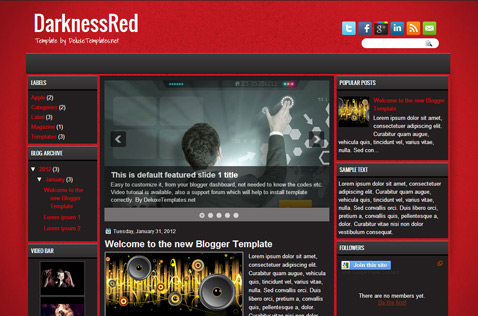 darknessred-blogger-template