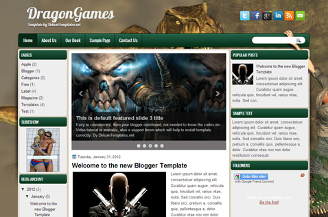 dragongames-blogger-template
