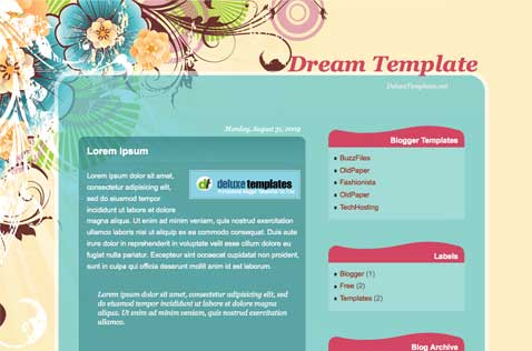 dreamtemplate-blogger-template