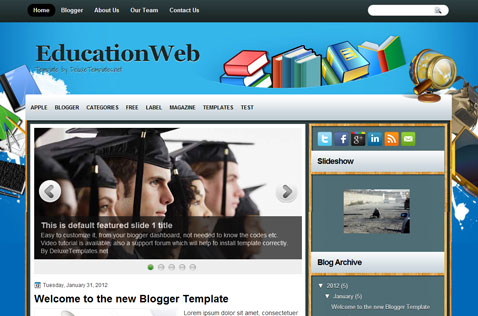 educationweb-blogger-template