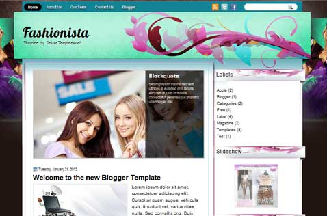 fashionista-blogger-template