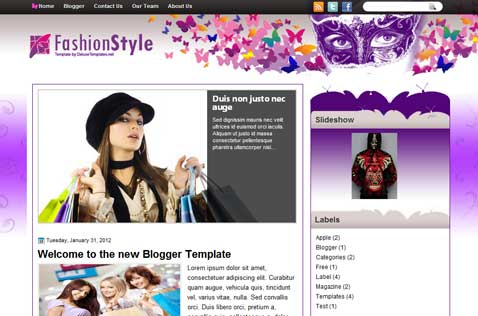 fashionstyle-blogger-template