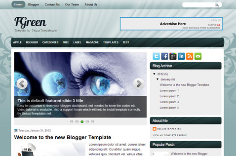 fgreen-blogger-template