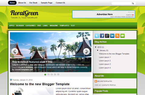 floralgreen-blogger-template