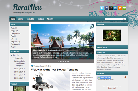 floralnew-blogger-template