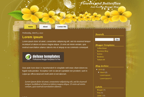 flowers-blogger-template