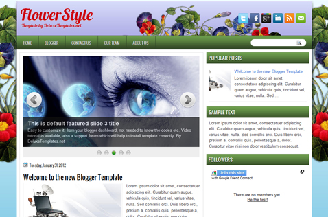 flowerstyle-blogger-template