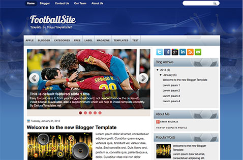 footballsite-blogger-template