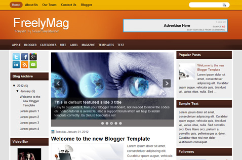 freelymag-blogger-template