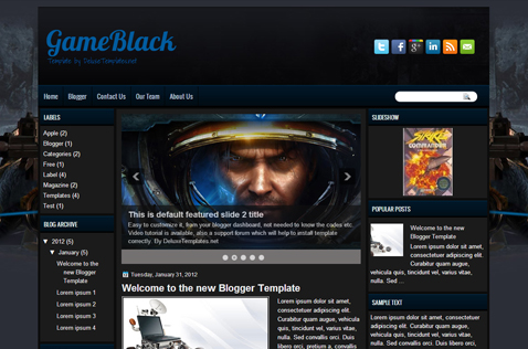 gameblack-blogger-template