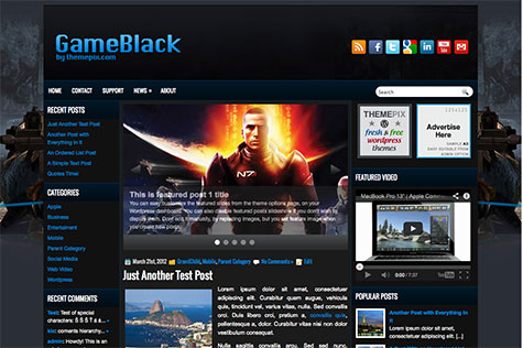 gameblack-wordpress-theme
