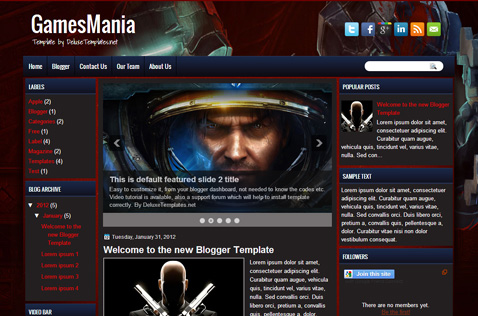 gamesmania-blogger-template