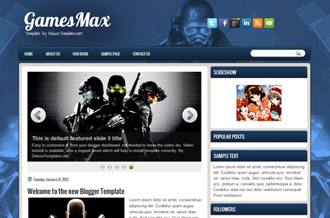 gamesmax-blogger-template