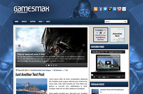 gamesmax-wordpress-theme