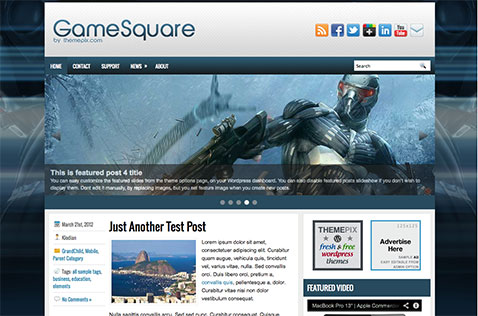 gamesquare-wordpress-theme