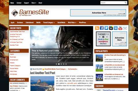 gamessite-wordpress-theme