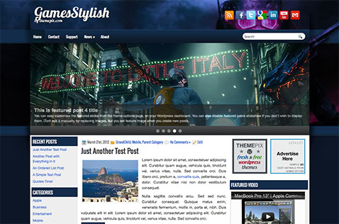 gamesstylish-wordpress-theme