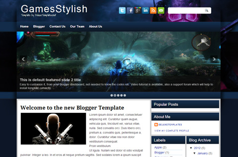 gamestylish-blogger-template