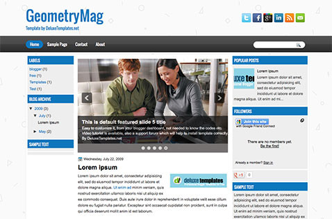 geometrymag-blogger-template