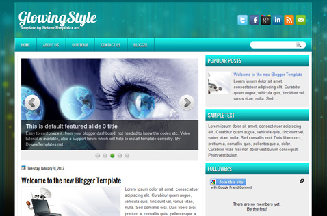 glowingstyle-blogger-template