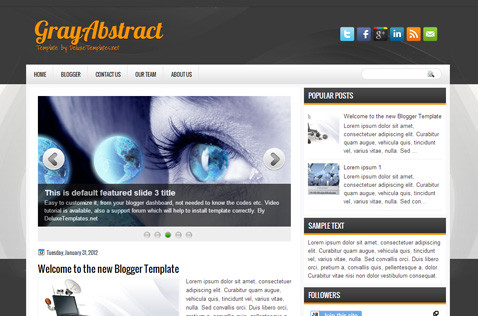 grayabstract-blogger-template