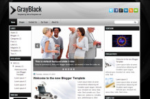 grayblack-blogger-template