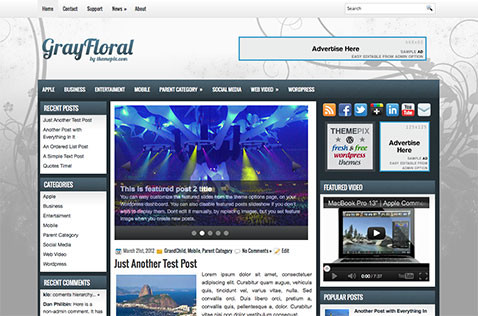 grayfloral-wordpress-theme