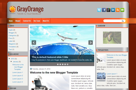 grayorange-blogger-template