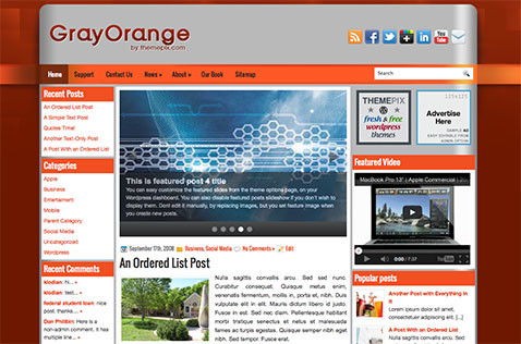 grayorange-wordpress-theme