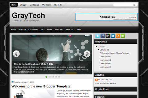 graytech-blogger-template