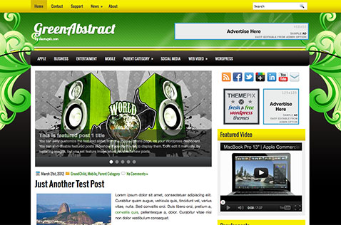 greenabstract-wordpress-theme