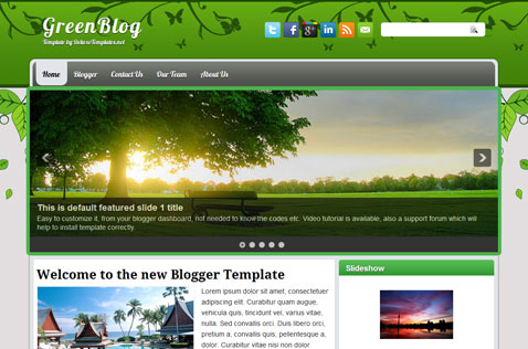 greenblog-blogger-template