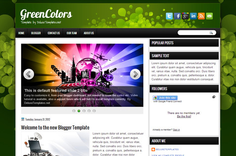 greencolors-blogger-template