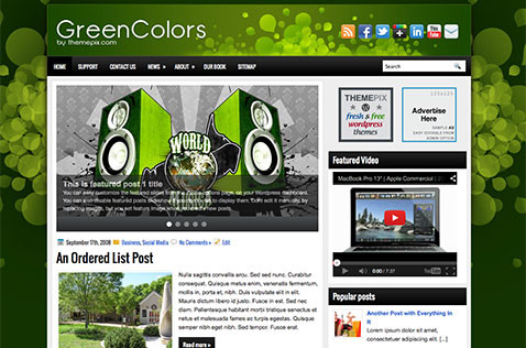 greencolors-wordpress-theme