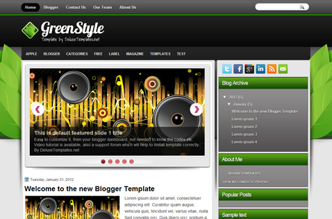 greenstyle-blogger-template