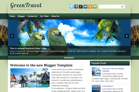 greentravel-blogger-template