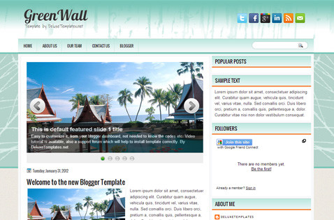 greenwall-blogger-template