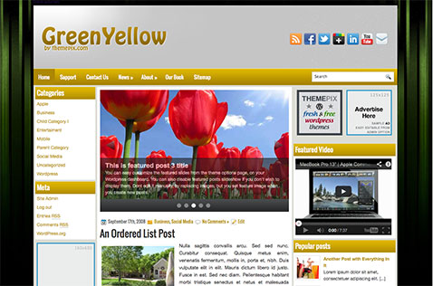 greenyellow-wordpress-theme