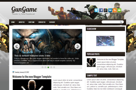 gungame-blogger-template