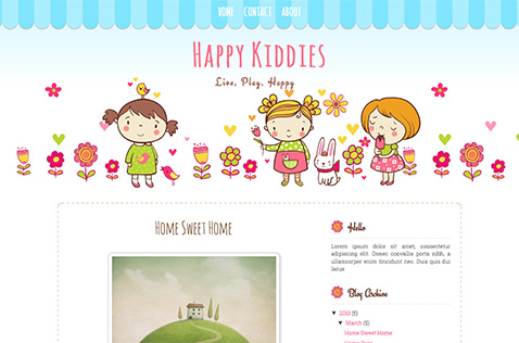 happy-kid-blogger-template