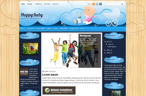 happybaby-blogger-template