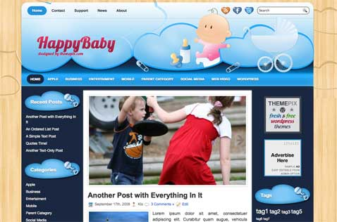 happybaby-wordpress-theme