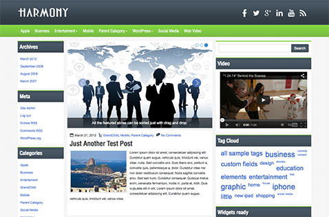 harmony-wordpress-theme