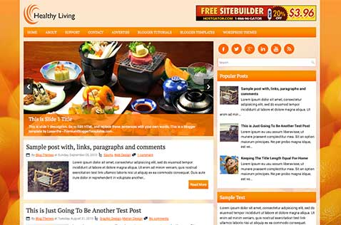 healthyliving-blogger-template