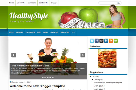 healthystyle-blogger-template